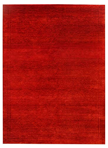 New Lane Red Gabbeh Pattern 170 x 240 cm Alfombra tradicional de diseño moderno