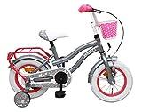Amigo Lovely - Bicicletta per bambini 12 pollici - Per Bambina di 3-4 Anni - Freno a mano, Freno a contropedale, Cestini per bicicletta e Ruote di Supporto per Bambini - Rosa