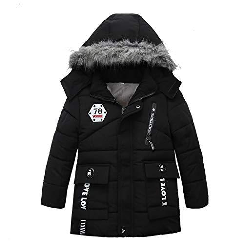 H.eternal(TM) - Abrigo de Invierno para niños Negro Negro (M