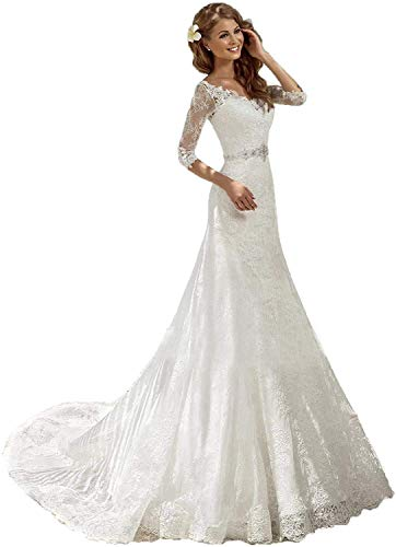 Marys Off the Shoulder Wedding Dress Beaded Neckline