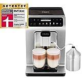 Krups - yy4132fd - Robot caf' 15bars titane + pot … lait inox evidence plus