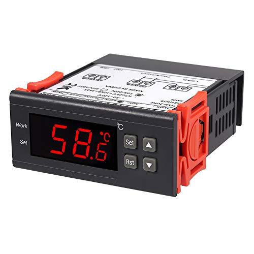 Proster Regolatore Temperatura 220V Termostato STC-8010 Riscaldamento Raffreddamento Display LCD Controllatore Temperatura con Allarme Multiuso per Acquario Congelatore Refrigeratore