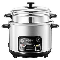 炊飯器(2L / 3L / 4L / 5L /)多機能知能家庭用断熱ステンレス鋼製調理スプーン、スチームスプーン、測定カップセット8個,4L
