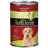 AvoDerm Natural Dry & Wet Dog Food, For Skin & Coat, Lamb & Rice Formula (Pack of 12)