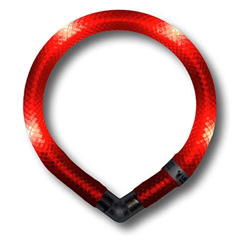 LEUCHTIE® Leuchthalsband Mini rot Größe 32,5 I LED Halsband extra für kleine Hunde I wasserdicht I enorm hell