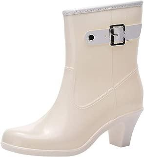Womens Low Ladies Slip On Wellington Boots Rubber Rain Waterproof Rubber Short Boots
