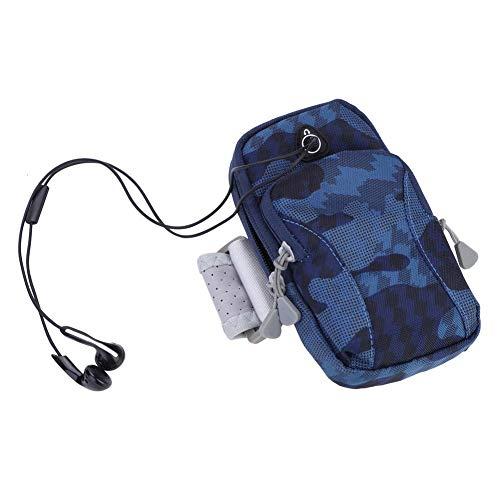 ROMACK Bolsa de Brazo, Bolsa para Correr con Conector para Auriculares para Correr(Dark Blue)