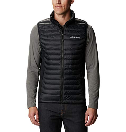 Columbia Gilet da Uomo, Powder Pass Vest, Nylon, Nero, (Black), XXL, 1842414