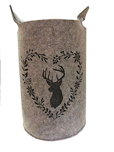 Boltze Collections vilten mand Leopold grijs met hertenkop met groot 56 cm
