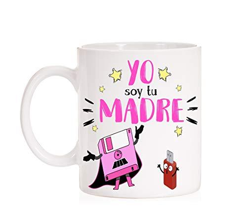 FUNNY CUP Taza Yo Soy tu Madre. Taza Divertida para Madre Frikis de Star Wars. Regalo día de la Madre