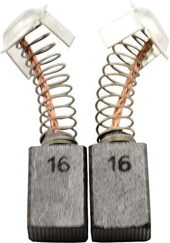Escobillas de carbón Buildalot Specialty ca-17-53827 para Hitachi Martillo DH 40FB - 7x11x17 mm - Con Dispositivo de desconexión, resorte, cable y conector - Reemplaza partes 999043 & 999073
