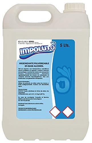 IMPOLUTO. Limpiador Higienizante Pulverizable Sin Aclarado en Base Alcohol para todo tipo de Superficies (5 Litros)