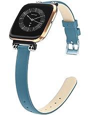 Sport Polsband, Compatibel met Fitbit Versa Strap/Versa 2 Strap, Smart Armband Leer Vervanging Bands voor Fitbit Versa/Versa 2