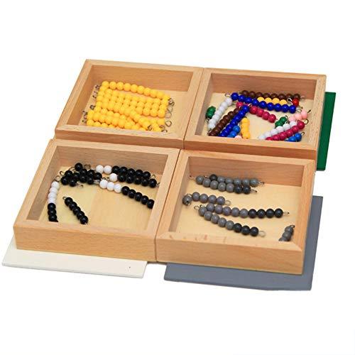 Wumudidi Ayudas de enseñanza de matemáticas Montessori, Aprendizaje 1-10 sumas y restas Juegos educativos Habilidades matemáticas tempranas
