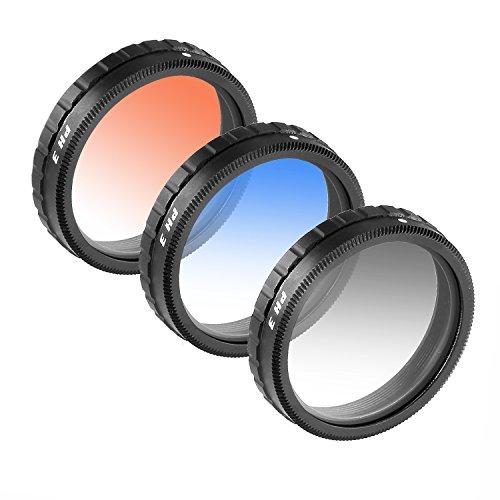 Neewer® für DJI Phantom 3 Professional und Phantom 3 Advanced graduierte Objektiv-Filter Set 3 Stück: Abgestuft ND8 Filter, Orange Filter und Blaue Filter Nicht für DJI Phantom 3 Standard