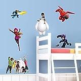 qwerdf Cartoon Baymax Big Hero 6 Zeichentrickwand Wandaufkleber Für Kinderzimmer-tapeten Zu Hause Dekorative Wanddekoration Zu Dekorationen Kids Geschenke Stein