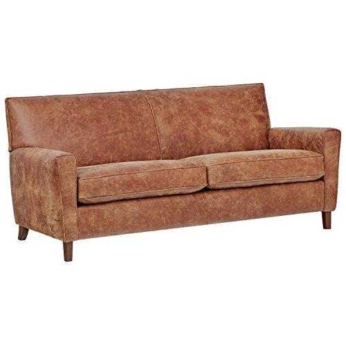Rivet Lawson Modern Angled Leather Sofa