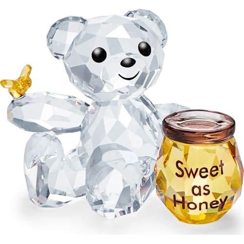 Swarovski Kris-beer – lief als honing, kristal, meerkleurig, 4,1 cm