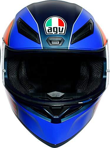 AGV(エージーブイ)バイクヘルメットフルフェイスK1POWERMATTDARKBLUE/ORANGE/WH(パワーマットダークブルー/オレンジ/ホワイト)L(59-60cm)028192IY008-L