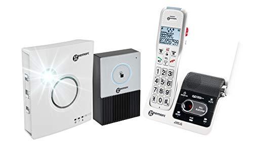 Geemarc AmpliDECT 595 ULE DOORBELL draadloos versterkte 50 dB heavy telefoon met intercom (oorbel en ring inbegrepen) - Duitse versie