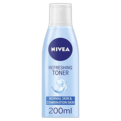 NIVEA Refreshing Toner (200 ml), Gentle & Caring Face Toner, Refreshing Toner with Vitamin E Removes...