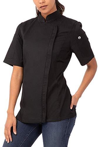 Chef Works Women's Springfield Chef Coat, Black, Medium