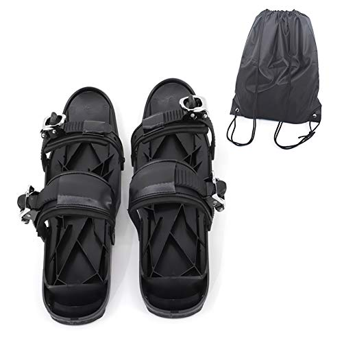 Zhyaj Mini Botas de esquí Skateskates para Raquetas de Nieve, Nylon portátil Hebilla de Metal Negro Cubiertas de Botas de esquí Protección de Botas para Deportes de Invierno Outdoors Un tamaño