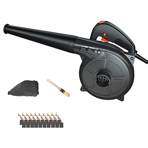 ACXZ Corded Electric Leaf Blower And Vacuum, Lightweight Handheld Garden...