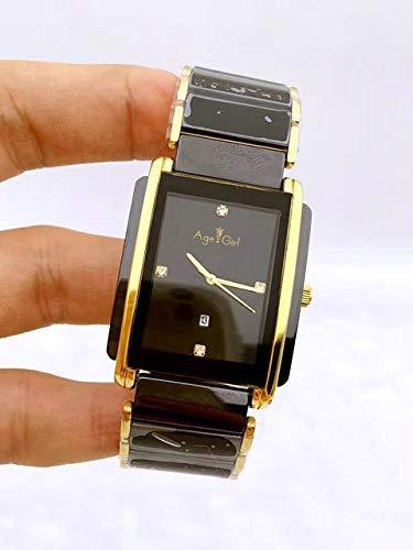 HHBB Marca de lujo Oro Rosa Oro Amarillo Plata Cuarzo Diamantes Clásicos Negro Cerámica Acero Inoxidable Pareja Relojes Aaa+ Oro Señora Diamantes