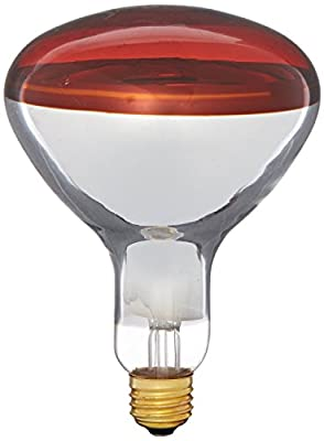 Pyramid 250BR40/RED 250 Watts, R40 Reflector, Red Medium E26 Base Incandescent Heat Lamp Light Bulb (View Amazon Detail Page)