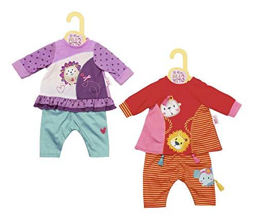 Zapf Creation 870358 Dolly Moda zomerjurk & leggings poppenkleding 43 cm, 1 set - kleur naar voorraad