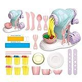 Gogias Fabricante de fideos para masa, máquina de helados de plastilina para hacer fideos y helados, juguete divertido para modelar pasta de arcilla para niñas y niños