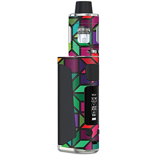 MightySkins Skin Compatible with Joyetech eVic Primo Mini – Stained Glass Window | Protective, Durable, and Unique Vinyl Decal wrap Cover | Easy to Apply, Remove, and Change Styles | Made in The USA