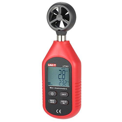 Anemómetro Termómetro de Mano Digital Inalámbrico,Portatil Medidor de Velocidad del viento/temperatura,max/min/promedio valor °C/°F,indicación de batería