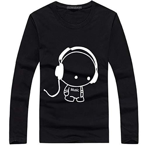 BUZZxSELECTION(バズ セレクション) Tシャツ 長袖 ロンT キャラクター おしゃれ キャラ メンズ レディース TSL005 (02.ブラック,S)