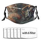 Black Hair Colossal Titan Jacket Ackerman Shingeki No Kyojin Titan Sword Attack On Creative Funny Pm2.5 Fives-Layer Non-Woven Fabric Meltblown Fabric Replaceable Filter Elements