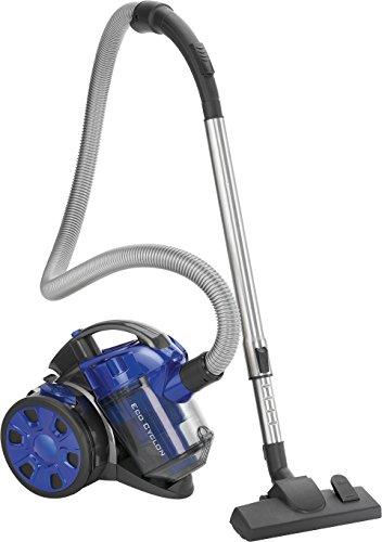 Bomann BS 3000 CB Eco-Cyclon Twin-Spin Bodenstaubsauger, beutellose Filtertechnik, Hoch-Effizienz-Partikel-Luftfilter, Metall-Teleskoprohr, blau
