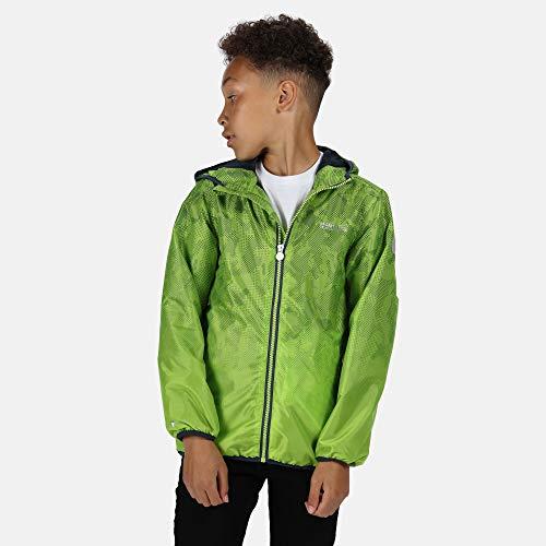 Regatta Boys & Girls Printed Lever Waterproof Breathable Jacket