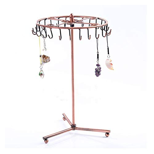 SIJI Caja De Almacenamiento De Joyería Colgante Rotating Metal Collar Anillo Pendientes Rack Tree