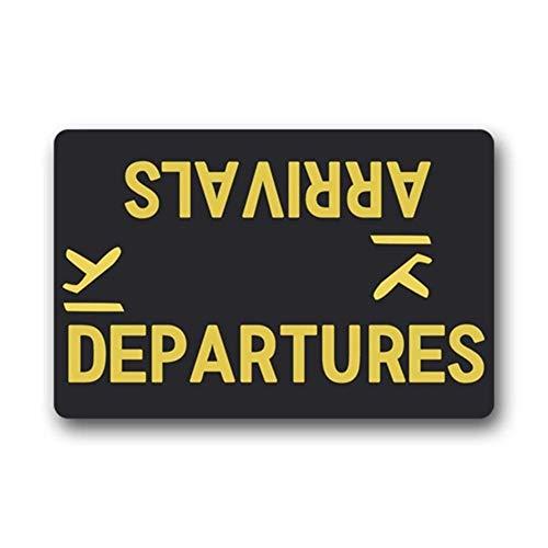 """Arrivals Departures Felpudo Funny Door Mats Entrance Floor Mat Area Rug Home Decorative Mat Machine Washable 23.6""""x15.7""""-Perfet Gift"""