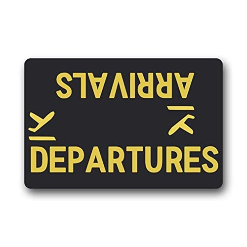"Arrivals Departures Felpudo Funny Door Mats Entrance Floor Mat Area Rug Home Decorative Mat Machine Washable 23.6""x15.7""-Perfet Gift"