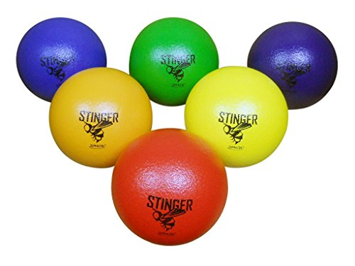 GSM Brands Dodgeballs - Foam, Soft Skin, Low Bounce, 5.9