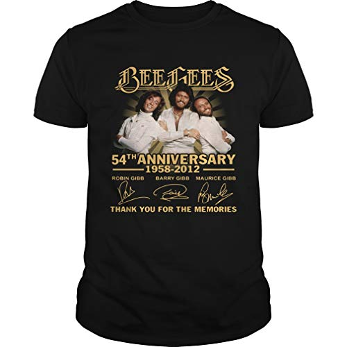 Bee Gees 54Th Anniversary 1958 2012 Thank You for The Memories Signatures - T Shirt for Men and Woman.