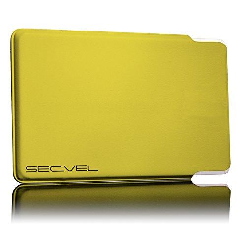 Etui de Protection breveté et testé par Le TÜV - Protection par 5 Cartes - Yell   RFID NFC Blocker   Blindage de Champ magnétique   Brouilleurs pour Carte de crédit, Carte d'identité