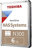 Toshiba N300 6TB NAS 3.5-Inch Internal Hard Drive- SATA 6 Gb/s 7200 RPM 128MB (HDWN160XZSTA)