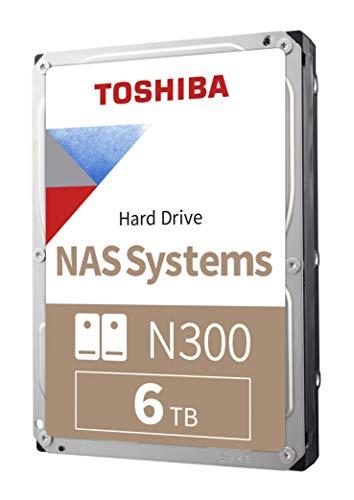 Toshiba N300 6TB NAS 3,5' Disco Duro Interno - CMR SATA 6 GB/s 7200 RPM 256 MB de caché - HDWG160XZSTA