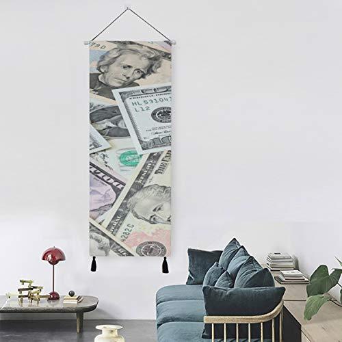 WYYWCY Eine Menge Dollar unordentliche Haufen zusammen Kunstdruck Wanddekoration Büro Wandfarbe 13 Zoll Breite X 47 Zoll lang Moderne Wohnkultur Drucke auf Leinwand gedruckt auf Leinwand
