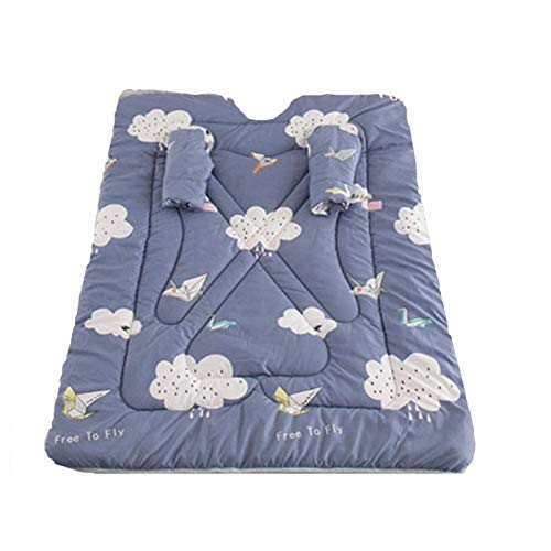 LJYLJY Winter Cotton Quilt With Sleeves For Office/Car Trip/Sofa/Bed,Soft Thick Warm Wearable Blanket,Anti-Kick Quilt For Children Sleeping, No Freezing Shoulders,Brown-M