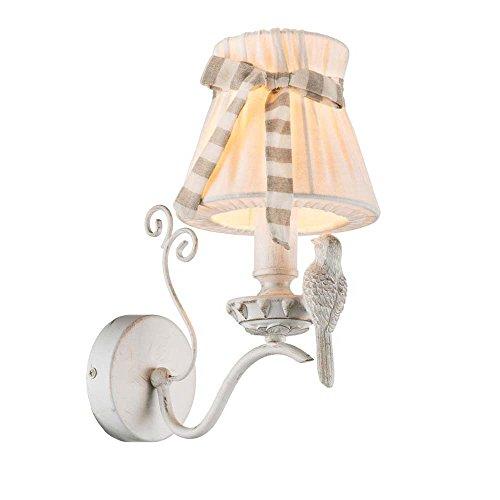 Exquisite 1-flg Wand Leuchte Lampe Wohnzimmer Gold Weiß Globo SAVIO 69027-1W