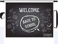新しい学校に戻る背景教室黒板鉛筆写真背景7x5ftファブリックキッズ学生学生学校式パーティーバナー写真ブース背景スタジオ小道具洗える